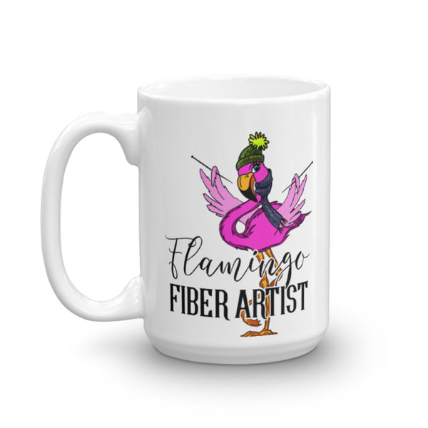 Flamingo Fiber Artist Coffee Mug - 11 oz. or 15 oz.