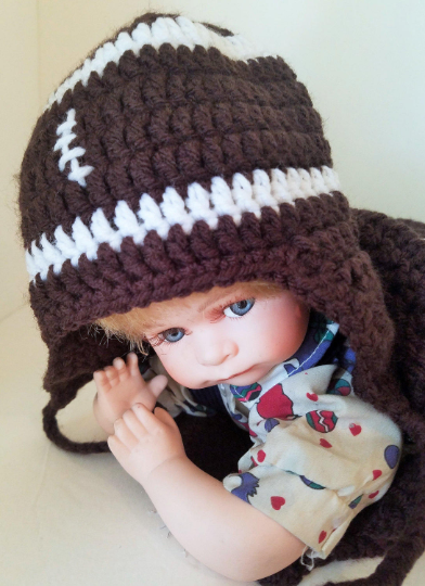 Newborn Baby Football Cocoon and Matching Hat, Handmade