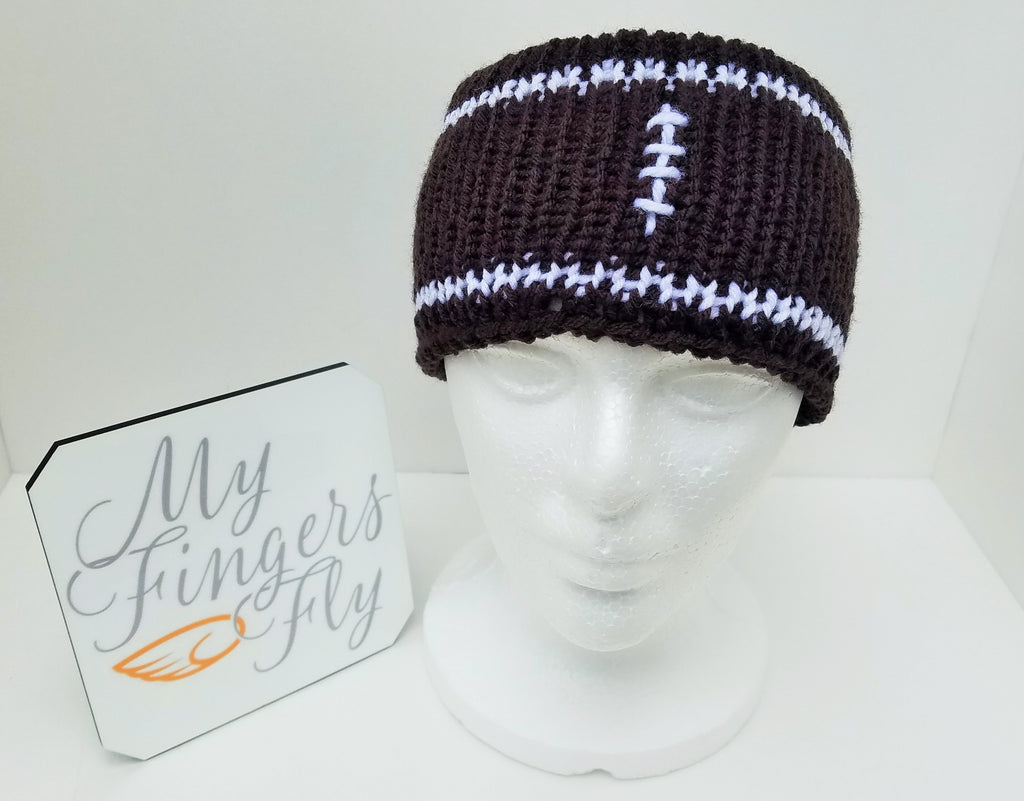 Football Earwarmer Knit Pattern - FREE PATTERN