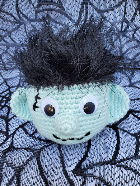 Frankenstein Monster Eyeglass Holder Crochet Pattern