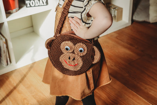 Baby Gorilla Purse Crochet Pattern