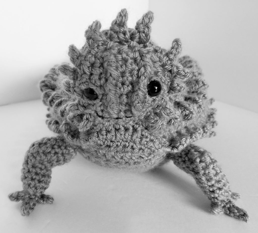 Horny Toad Plush Toy (Texas Horned Lizard) Crochet Pattern – My ...