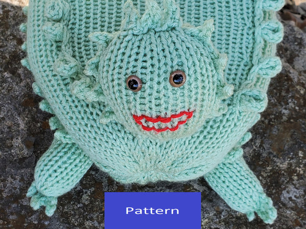 Horny Toad Plush Toy Pattern for Addi Knitting Machine