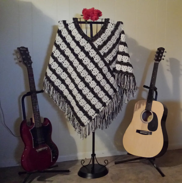 Ladies' Skull Poncho Crochet Pattern