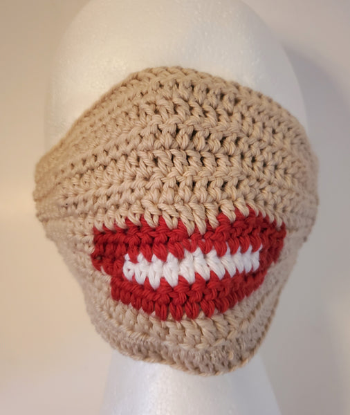 Lips Face Mask Crochet Pattern