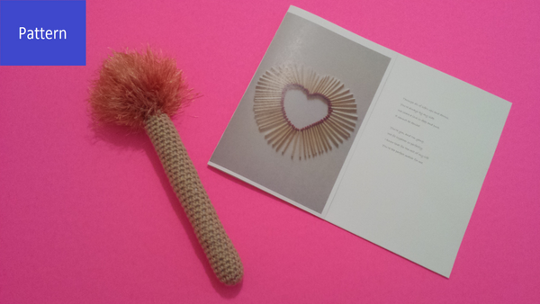 Matchstick Plush Toy Crochet Pattern including Greeting Card PDF