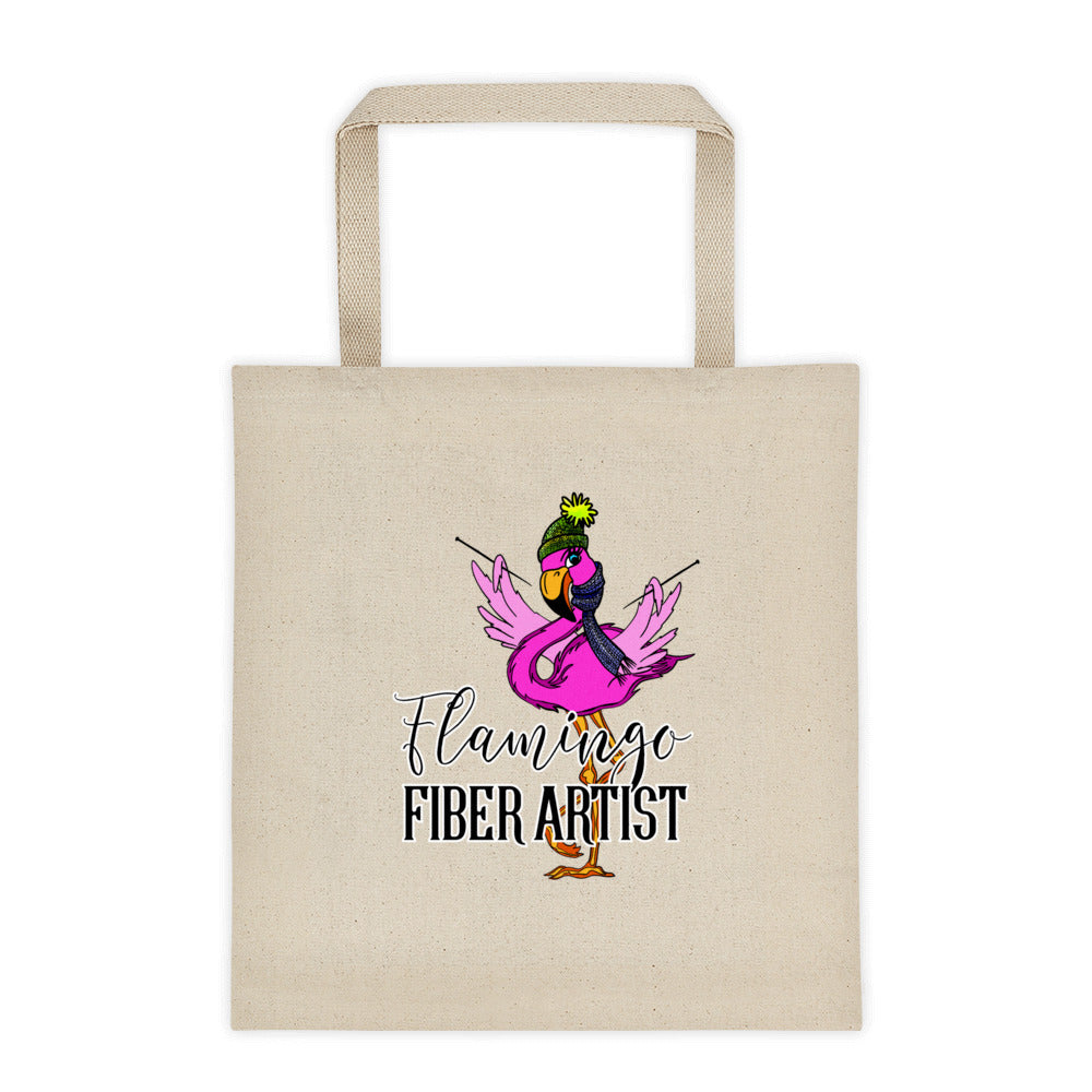 Flamingo Fiber Artist Tote bag
