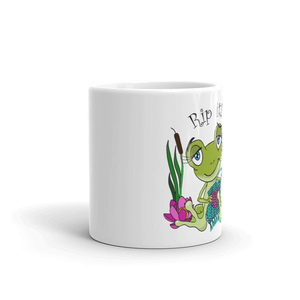 Rip It! Frog Coffee Mug