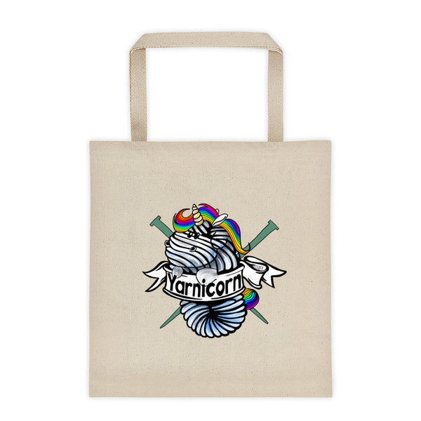 Yarnicorn Canvas Tote bag