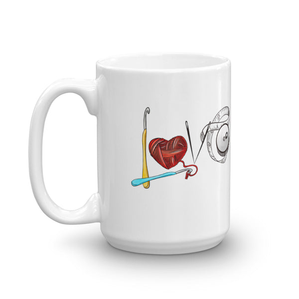 Love Crochet Coffee Mug - 11 oz. or 15 oz.