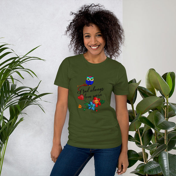 """Owl Always Love Yarn"" Short-Sleeve Unisex T-Shirt"