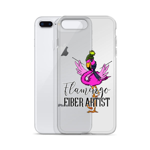 Flamingo Fiber Artist iPhone Case