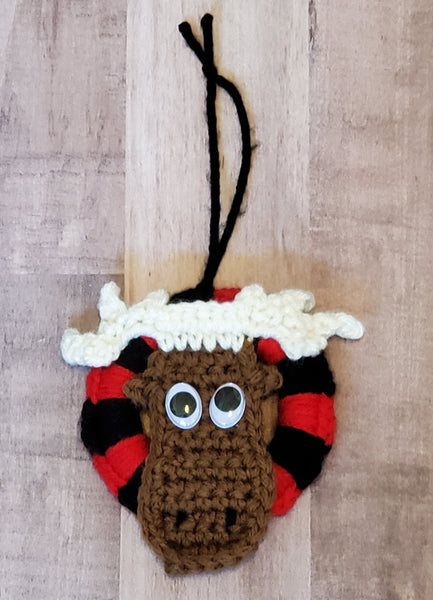 Moose Christmas Tree Ornament Pattern - Buffalo Plaid Christmas Tree Ornament Pattern