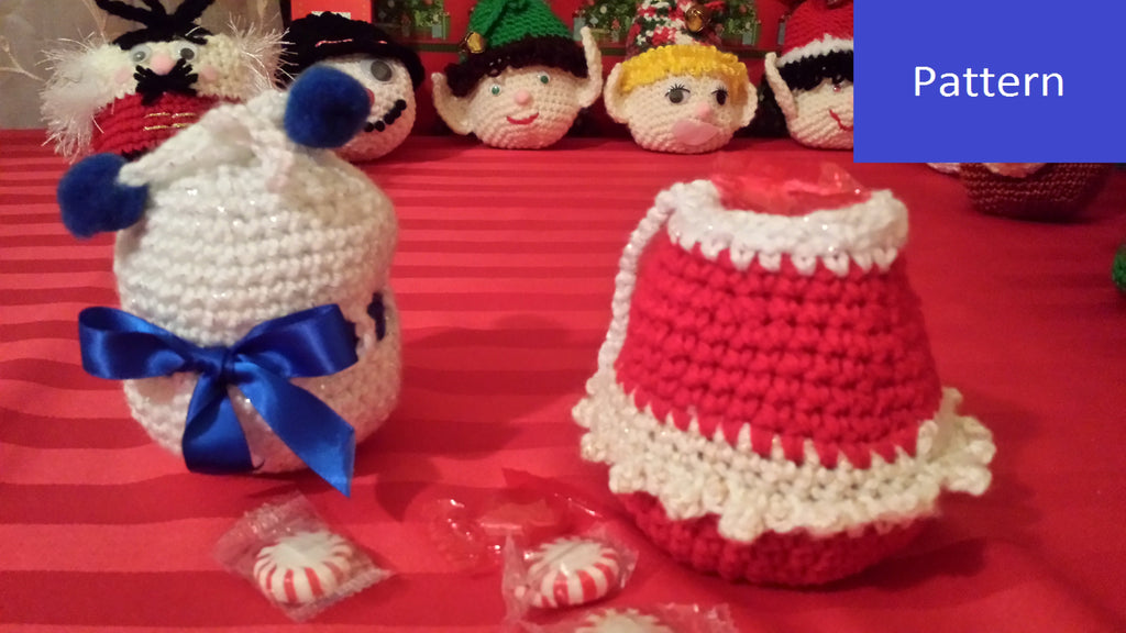 Christmas Ornament Goody Bag Crochet Pattern in PDF Format