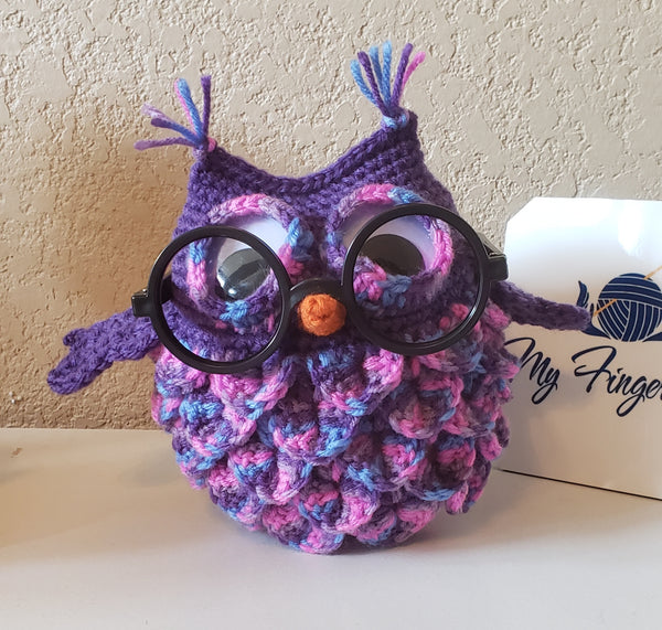 Owl Eyeglass Holder Crochet Pattern