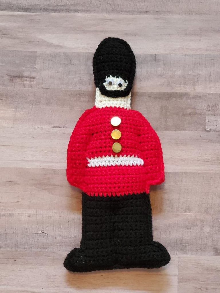 Toy Soldier Cuddler Crochet Pattern - Palace Guard Cuddler Crochet Pattern