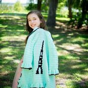 Crochet Covers for Tweens and Teens Crochet Pattern - Layla Vest, Sugar Skull Poncho, Snowflake Poncho, and Eiffel Tower Sweater Patterns