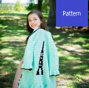 Eiffel Tower Tween Sweater Crochet Pattern, Paris Sweater Crochet Pattern
