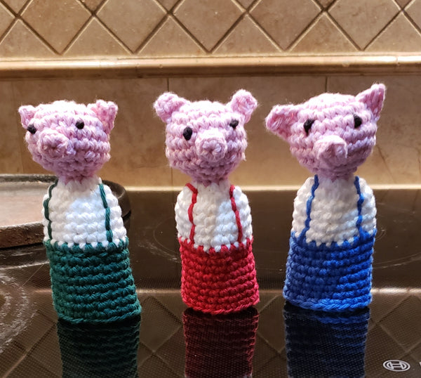 Three Little Pigs Panhandlers Crochet Patterns