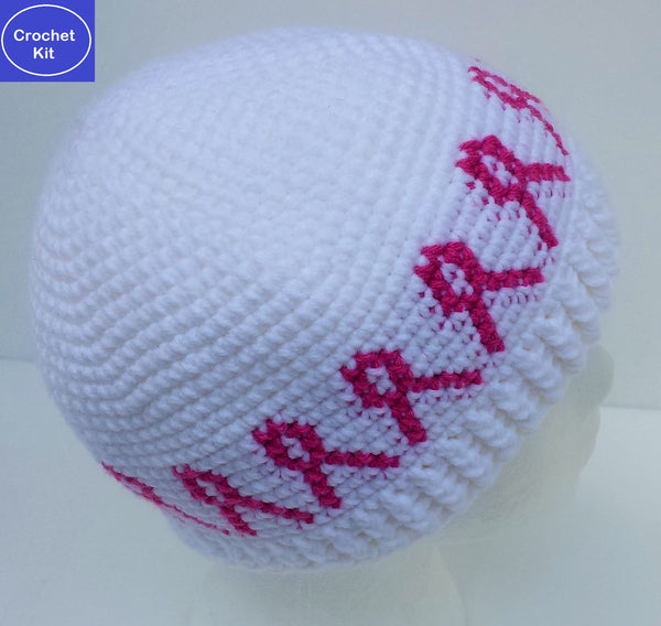 Crochet Kit for Pink Ribbon Chemo Hat