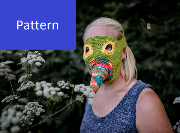 Colorful Plague Mask Crochet Pattern for Halloween