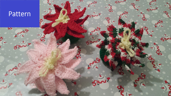 Poinsettia Goody Bag Crochet Pattern in PDF Format
