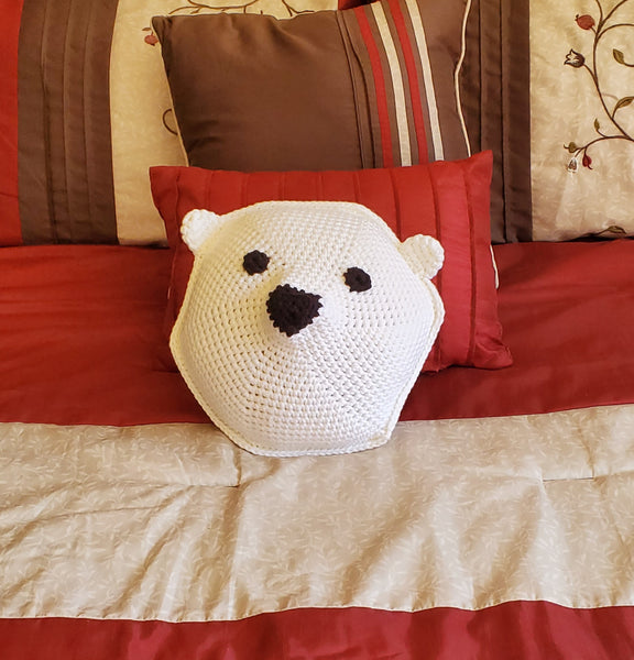 Polar Bear Pillow Crochet Pattern