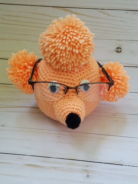 Poodle Eyeglass Holder Crochet Pattern - Mother's Day Gift - FREE PATTERN