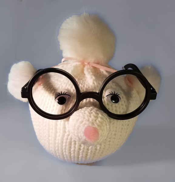 Poodle Eyeglass Holder Crochet Pattern - Mother's Day Gift