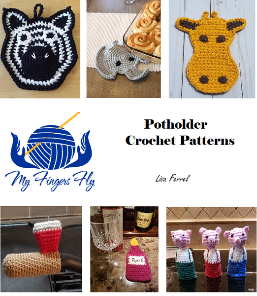 Potholder Crochet Patterns Ebook - Instant PDF Download