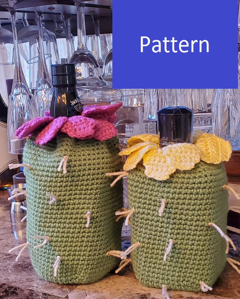Prickly Pear Liquor Bottle Crochet Pattern
