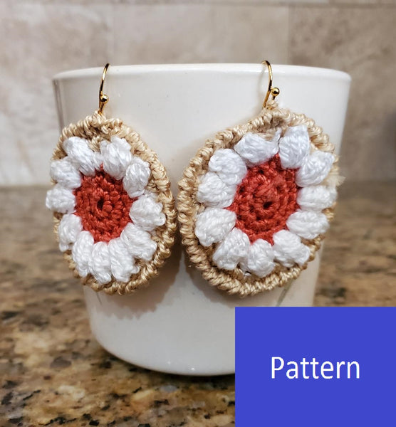 Pumpkin Pie Earring Crochet Pattern - Christmas Tree Ornament Crochet Pattern
