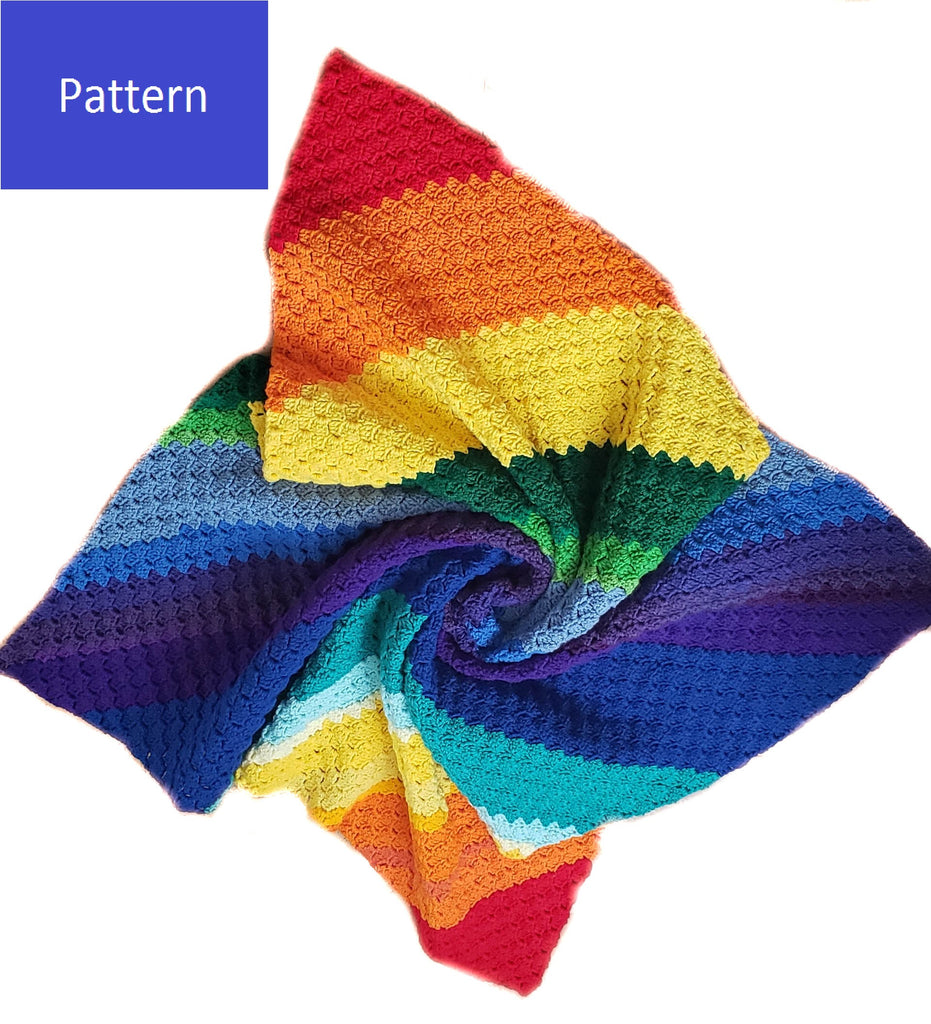 Rainbow C2C Blanket Crochet Pattern