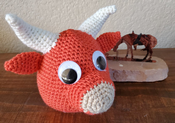 Little Red Bull Eyeglass Holder Crochet Pattern