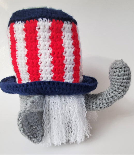 Republican Elephant Gnome Crochet Pattern