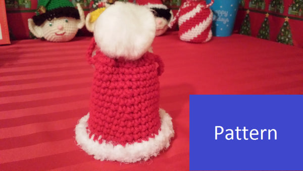 Santa's Hat Goody Bag Crochet Pattern in PDF Format