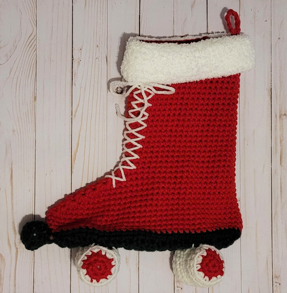 Roller Skate Stocking Crochet Pattern