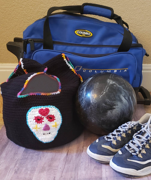 Sugar Skull Crochet Patterns Ebook - Ladies' and Girls' Ponchos, Kitchen Towel, Purses, Bowling Bag, Jewelry, Face Mask