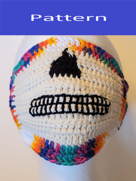 Sugar Skull Face Mask Crochet Pattern