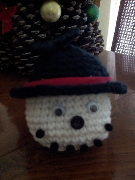Snowman Goody Bag Crochet Pattern in PDF Format