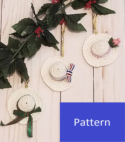 Suffragette Hat Ornament Crochet Pattern