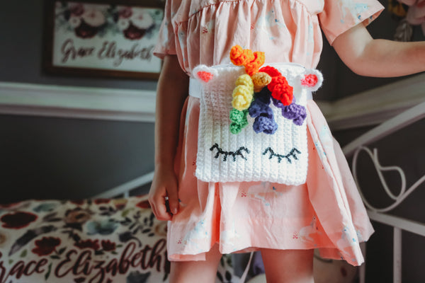 Unicorn Waist Bag (Fanny Pack) Crochet Pattern