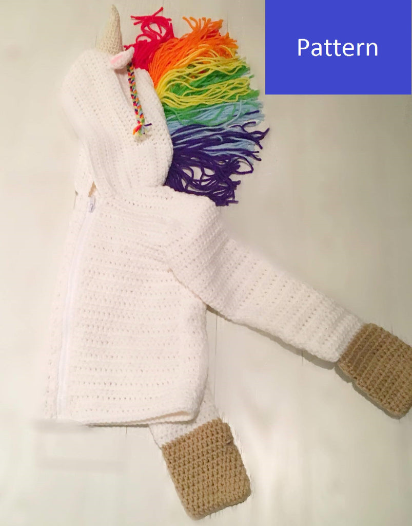 Unicorn Hoodie Crochet Pattern Children S Sizes 4 6 And 8 My Fingers Fly