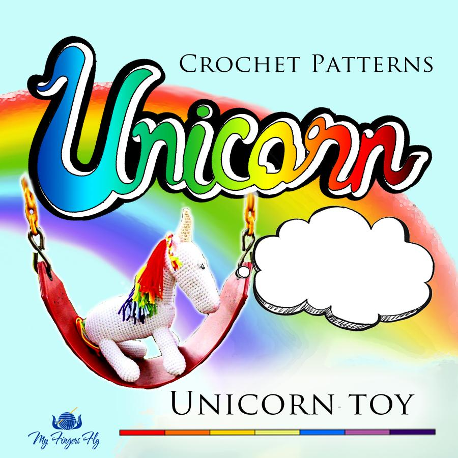 I Love You Unicorn Stuffed Animal Crochet Pattern