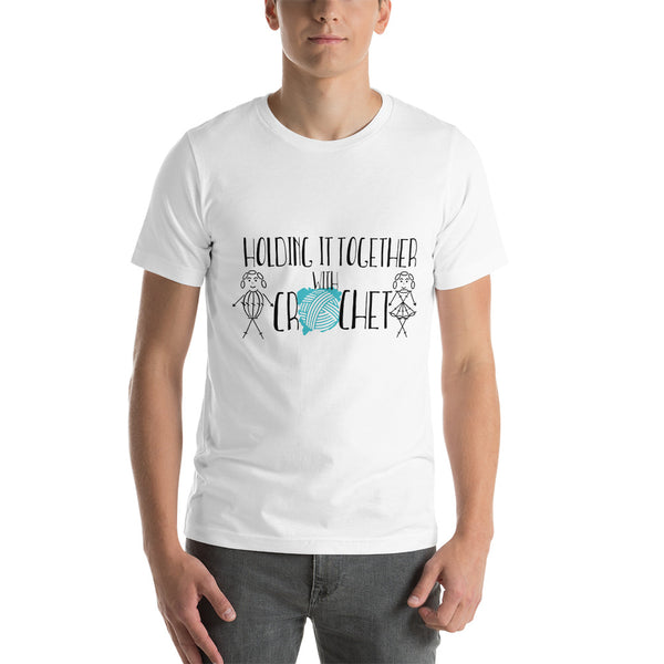 Holding it Together with Crochet Short-Sleeve Unisex T-Shirt