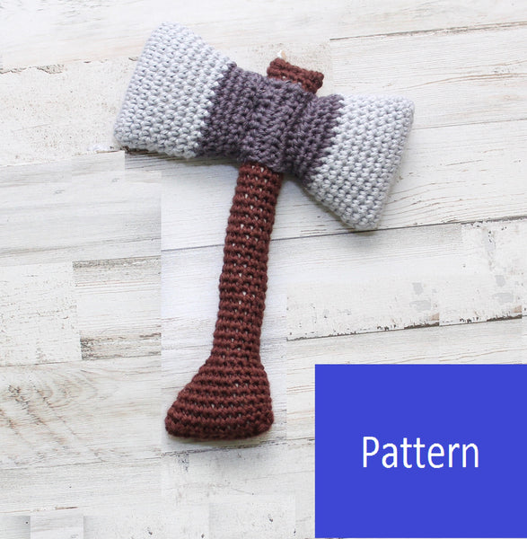 Viking/Medieval Baby Axe Rattle Crochet Pattern