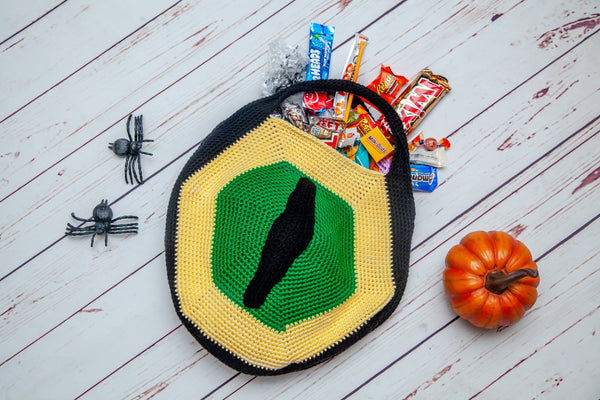 Wolf Eye Trick or Treat Bag Crochet Pattern
