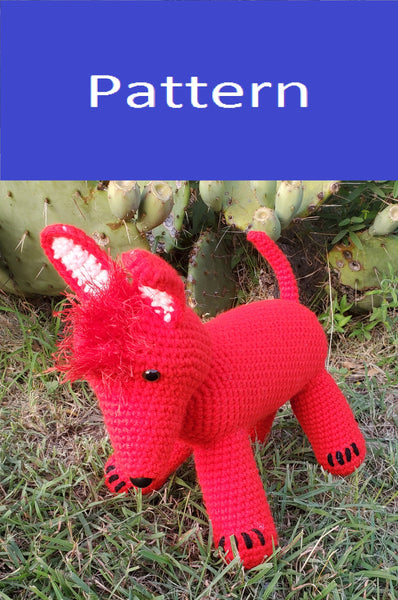 Xolo, the Mexican Hairless Dog Plush Toy Crochet Pattern