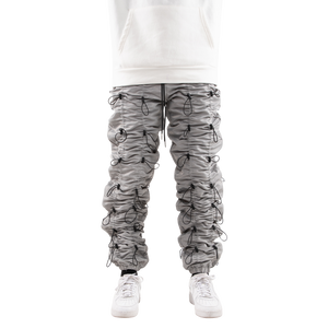 EPTM SILVER/BLACK-ACCORDION PANTS - EPTM.