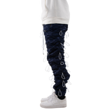 EPTM NAVY/WHITE-ACCORDION PANTS - EPTM.